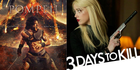 Pompeii and 3 Days to Kill