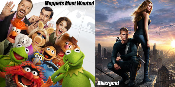 Divergent and Muppets Most Wanted