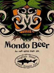 """Logo art by Tyler Stout for an exclusive """"Mondo Beer"""" from Dogfish Head that was served at the convention."""