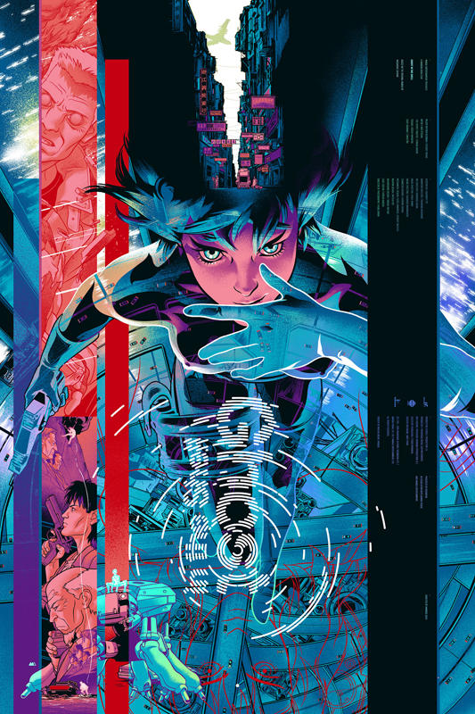 """""""Ghost in the Shell"""" by artist Martin Ansin.  Foil Version.  24""""x36"""".  Edition of 325."""