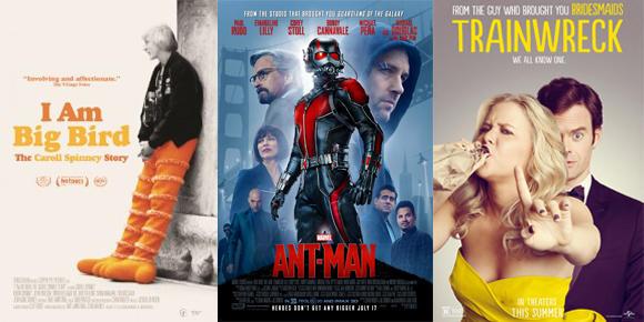 DCRS vs Ant-Man, Trainwreck, and I Am Big Bird